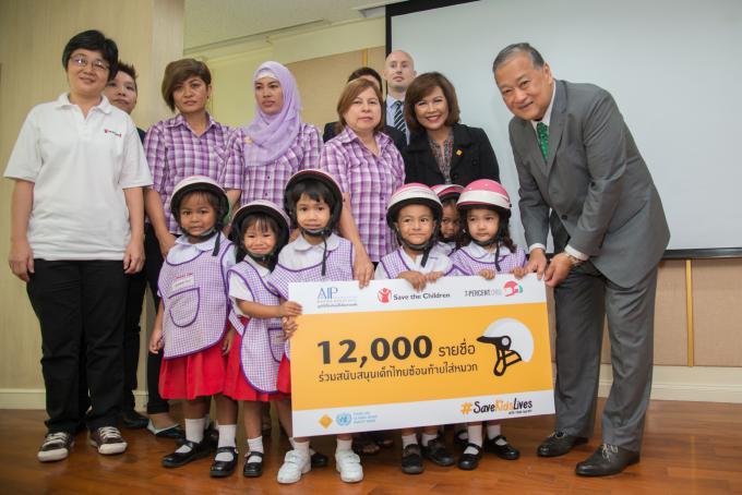 Helmet observational survey at schools in Bangkok